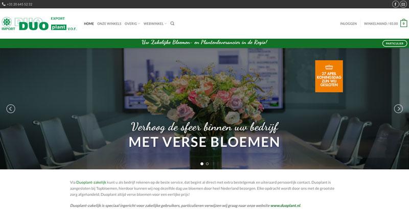 Duoplant zakelijk - Onzid webdesign